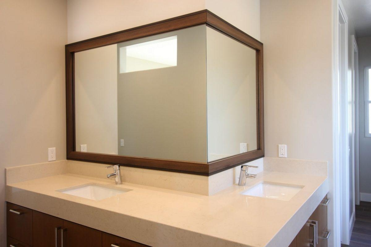 Framing A Bathroom Mirror – How To | Mirrorchic With Regard To Custom Framed Mirrors Online (Image 8 of 20)