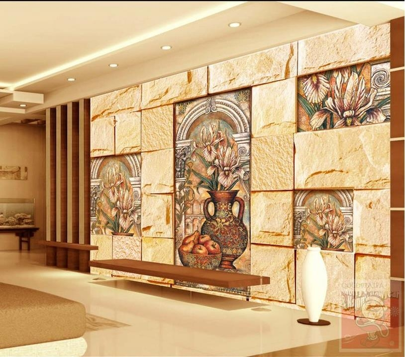 Free Shipping Modern Wall 3D Murals Wallpaper , Classical Hd Regarding Italian Marble Wall Art (Image 6 of 20)