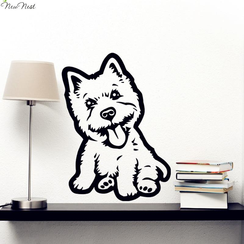Free Shipping Westie Dog Decal Vinyl Sticker Decal Animal Puppy Regarding Westie Wall Art (Image 13 of 20)