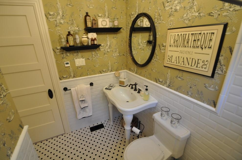 French Country Bathroom Bathroom Farmhouse With French Country Throughout French Bathroom Wall Art (View 4 of 20)