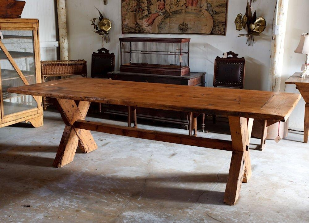French Country Rustic Farm Dining Table At 1Stdibs Within Most Recently Released French Farmhouse Dining Tables (Image 7 of 20)
