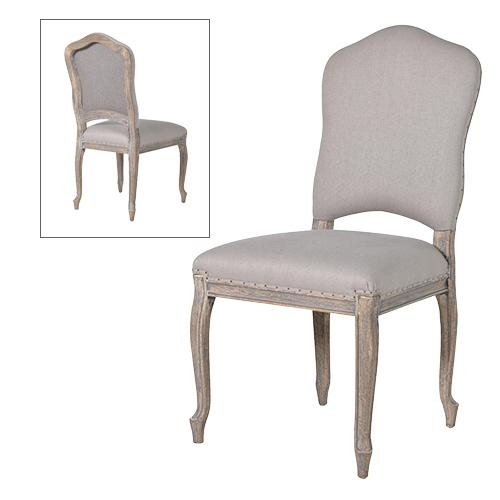 French Grey Dining Chair Inside Most Popular Grey Dining Chairs (Image 12 of 20)