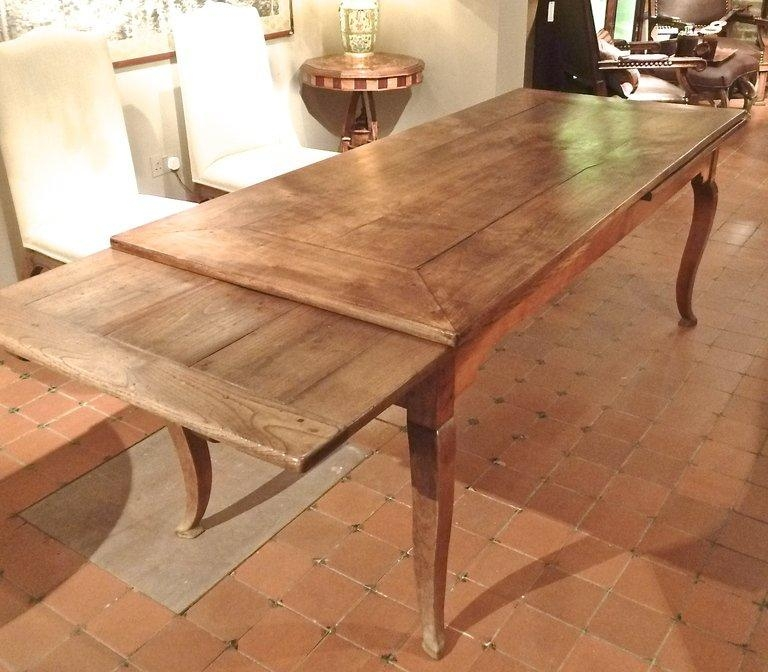 French Provincial Cherrywood Farmhouse Extending Dining Table In 2017 French Farmhouse Dining Tables (Image 17 of 20)