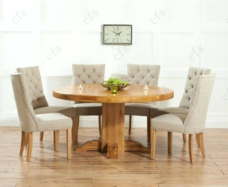 Full Image For Solid Wood Round Dining Table Sets Solid Wood Round Intended For Current Round Extending Dining Tables Sets (View 4 of 20)