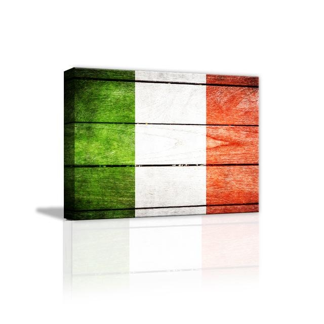 Funlife 3D Hd Print Italian Flag Canvas Wall Art Print Painting Regarding Italian Flag Wall Art (Image 9 of 20)