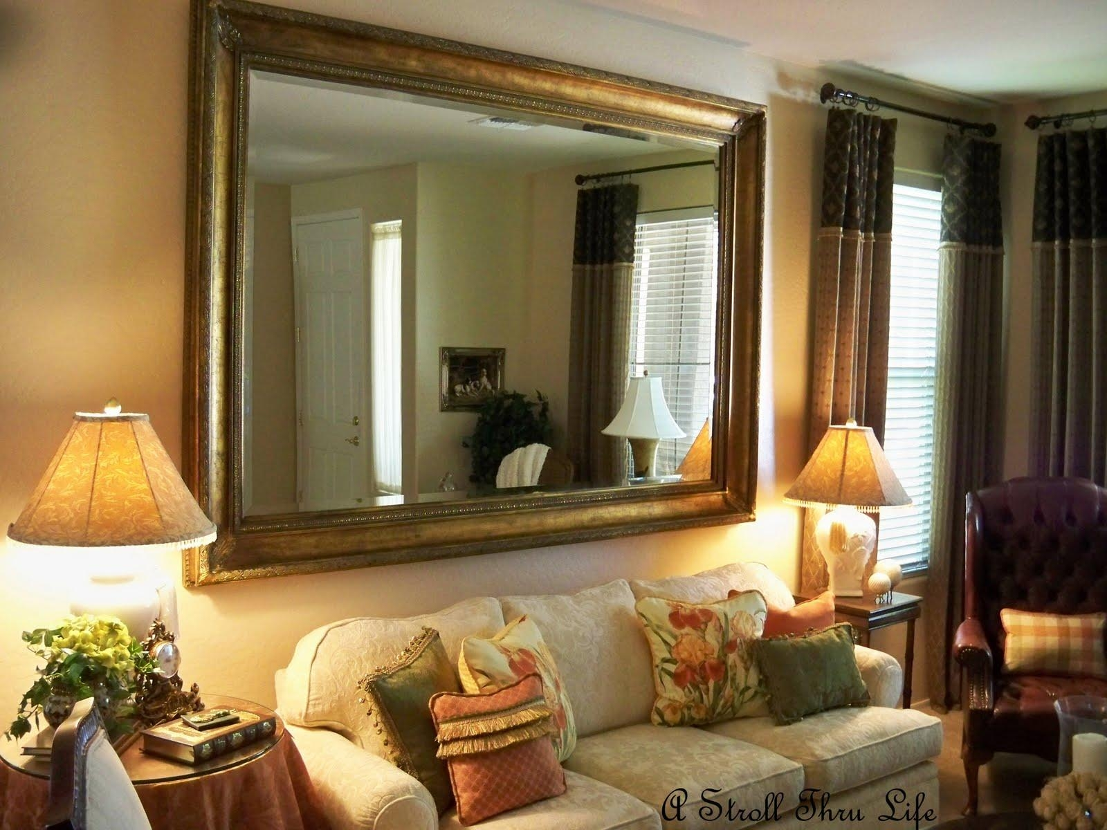 Furniture: Big Mirrors For Living Room Trends And Large Mirror Intended For Framed Mirrors For Living Room (Image 9 of 20)