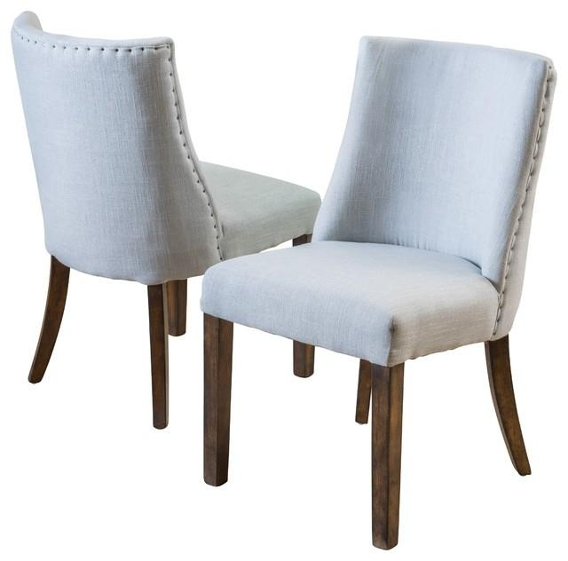 Furniture Stunning Rydel Dining Chairs Unique Stitching On Side Within Most Recently Released Fabric Covered Dining Chairs (View 14 of 20)