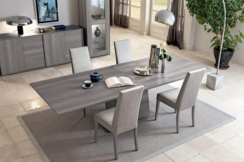Futura Grey Dining Table | Extending Dining Table | Modern Furniture| Intended For Extending Marble Dining Tables (View 17 of 20)