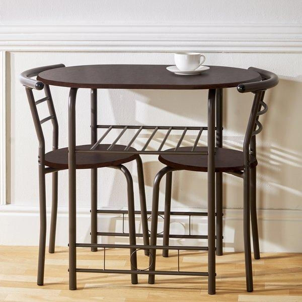 Gablemere Compact Dining Set With 2 Chairs & Reviews | Wayfair.co (Image 12 of 20)