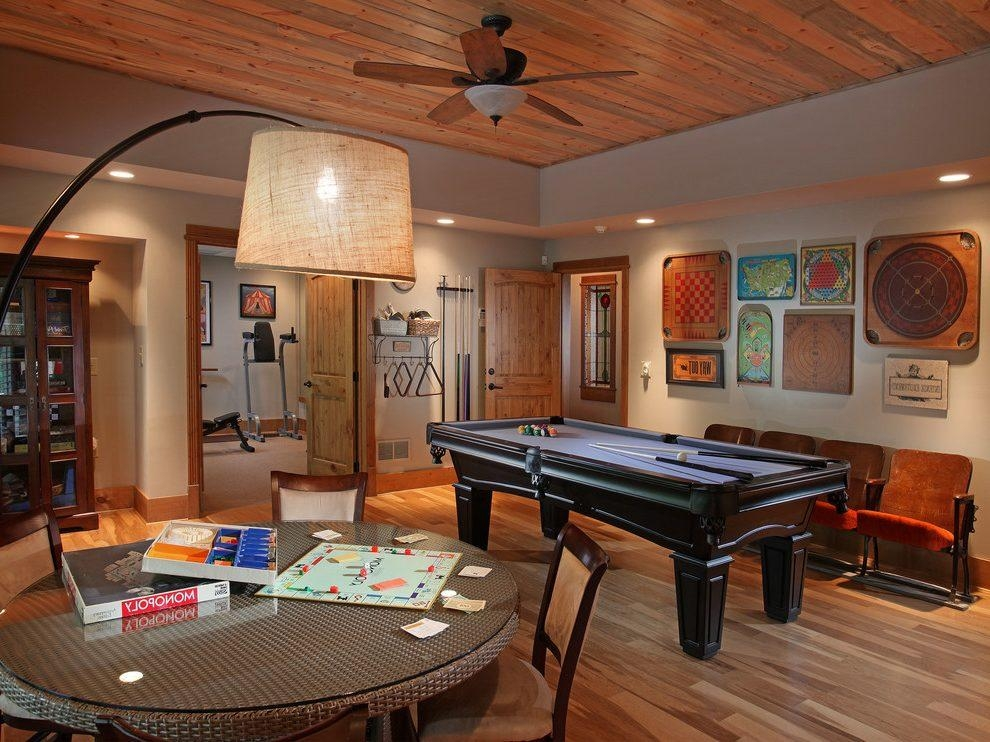 Game Room Decorating Ideas Family Room Traditional With Earth Intended For Wall Art For Game Room (Image 14 of 20)