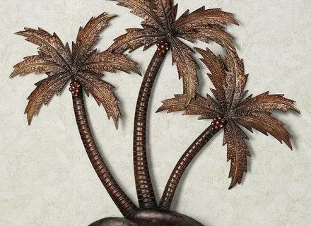 Gardman 17344 Palm Leaf Metal Wall Art Indoor Or Outdoor Use Within Palm Tree Metal Wall Art (View 7 of 20)