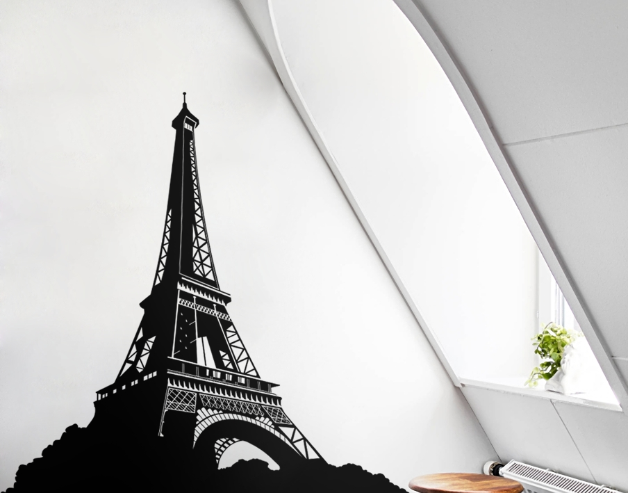 Geometric Eiffel Tower – Your Decal Shop | Nz Designer Wall Art Pertaining To Eiffel Tower Wall Art (Image 12 of 20)