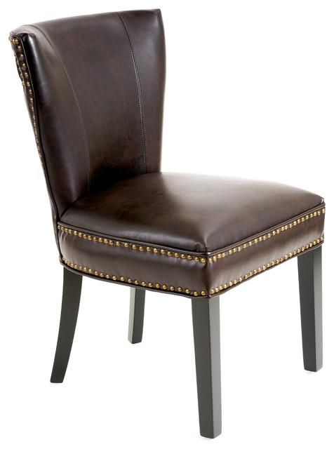 George Dining Chair – Transitional – Dining Chairs Gdfstudio Intended For Brown Leather Dining Chairs (View 2 of 20)