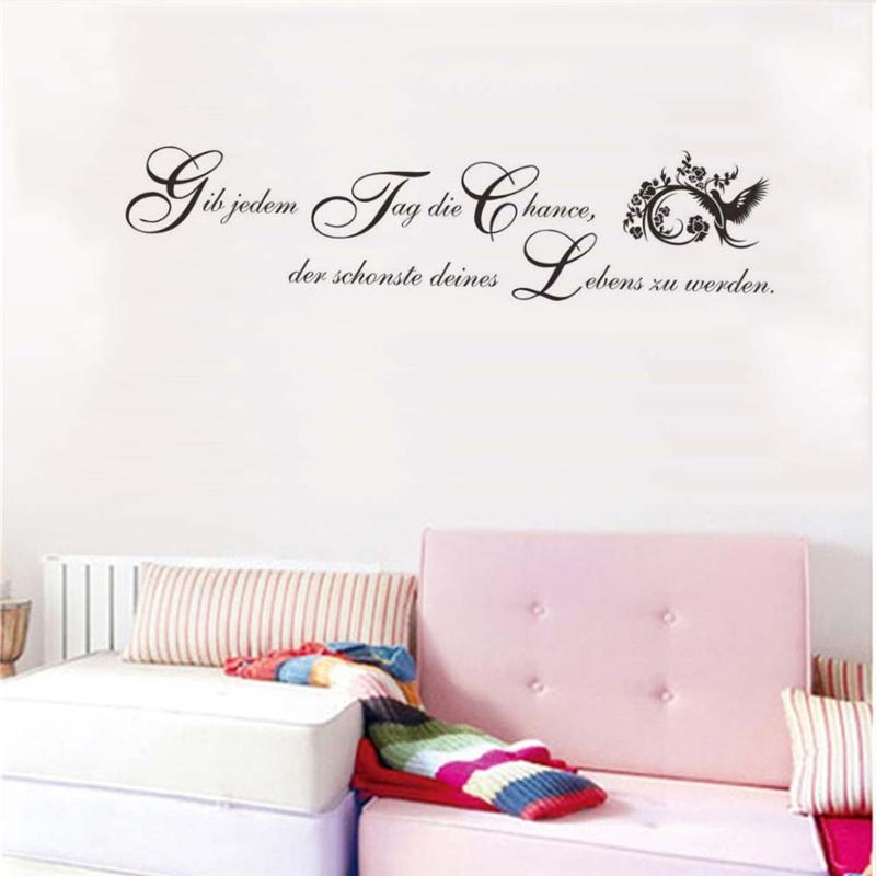 German Inspirational Quotes Wall Stickers Girls Bedroom Decoration Regarding Inspirational Wall Art For Girls (Image 13 of 20)