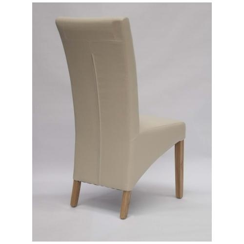 Get Cream Leather Dining Chairs And Enhance Your Dining Room Inside Cream Leather Dining Chairs (Image 14 of 20)