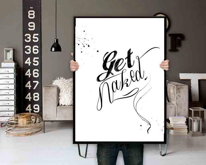 Get Naked Bathroom Wall Art Bathroom Decor Bathroom Wall Decor Pertaining To Nvga Wall Art (Image 3 of 20)