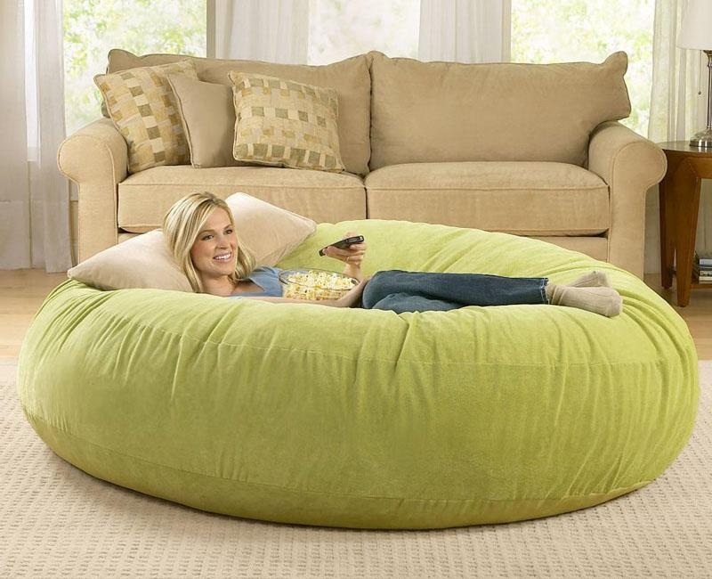 Giant Bean Bag Chairs – The Green Head Regarding Giant Bean Bag Chairs (Image 9 of 20)