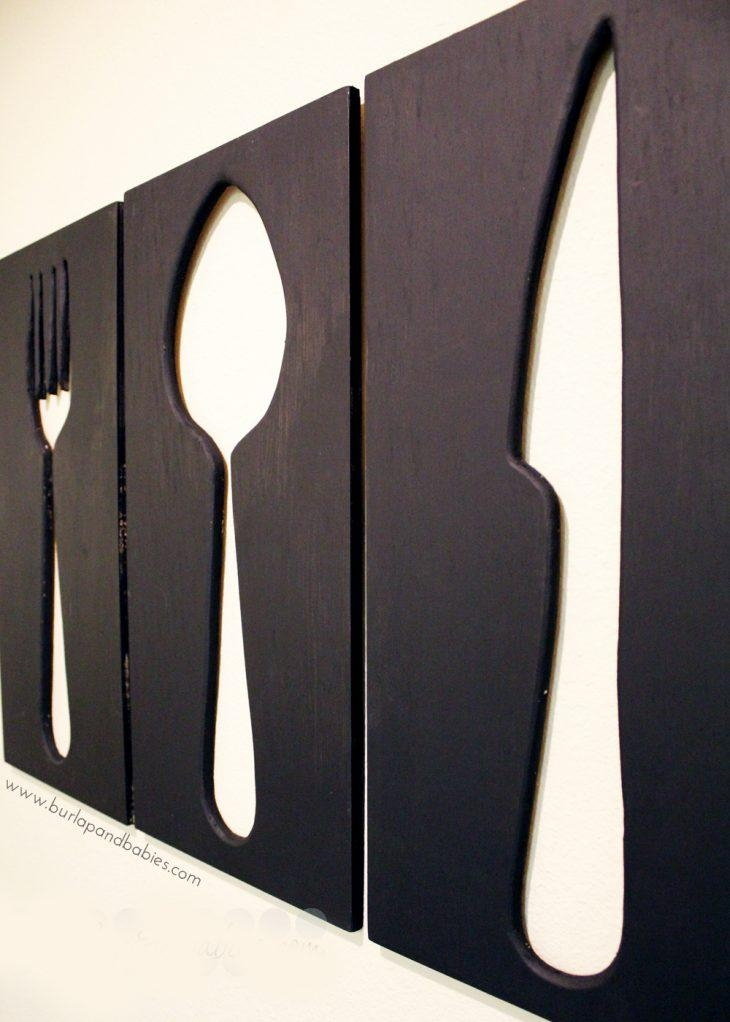 Giant Utensil Wall Art With Utensil Wall Art (Image 10 of 20)