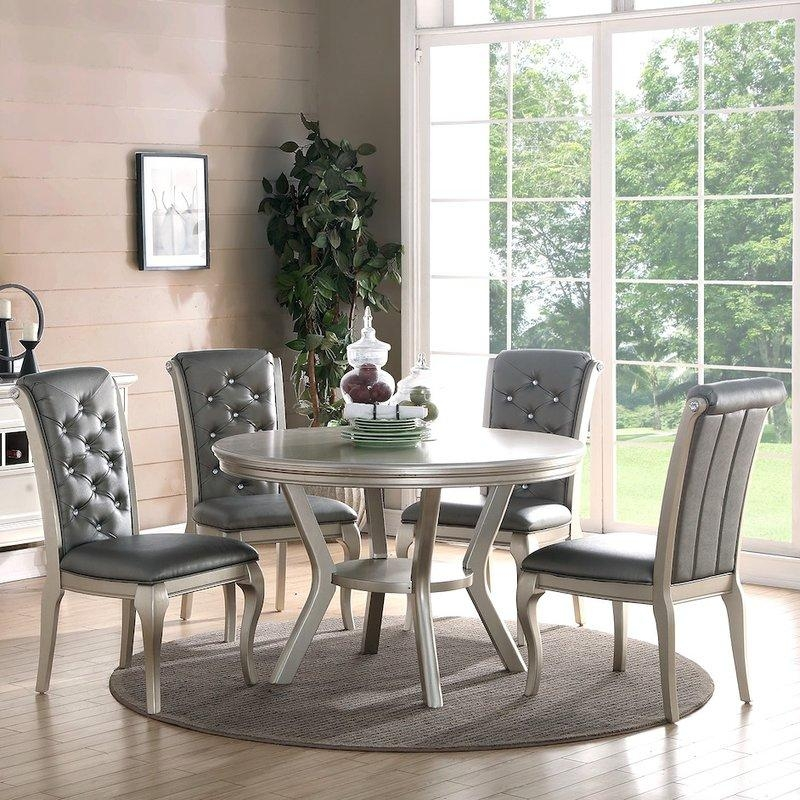 Glam Kitchen & Dining Room Sets You'll Love | Wayfair With Best And Newest Kitchen Dining Sets (Image 5 of 20)