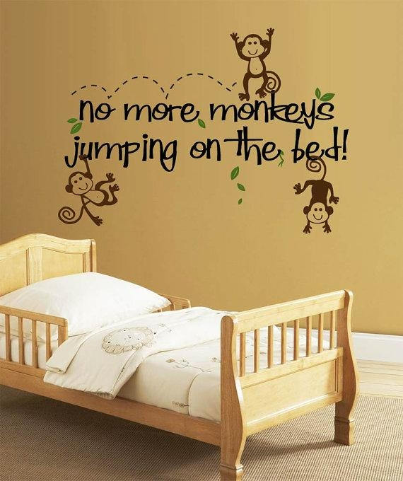 Glamorous 25+ No More Monkeys Jumping On The Bed Wall Art Design Inside No More Monkeys Jumping On The Bed Wall Art (Image 3 of 20)