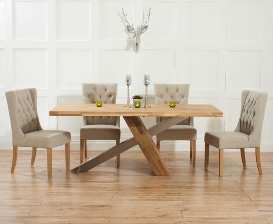 Glamorous Oak Dining Table And Fabric Chairs 39 For Dining Room Intended For Current Oak Dining Tables And Fabric Chairs (Image 11 of 20)