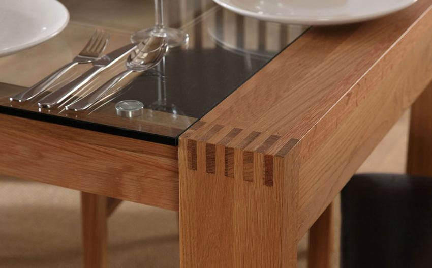 Glass And Oak Dining Room Table » Dining Room Decor Ideas And With Most Up To Date Oak And Glass Dining Tables Sets (View 6 of 20)