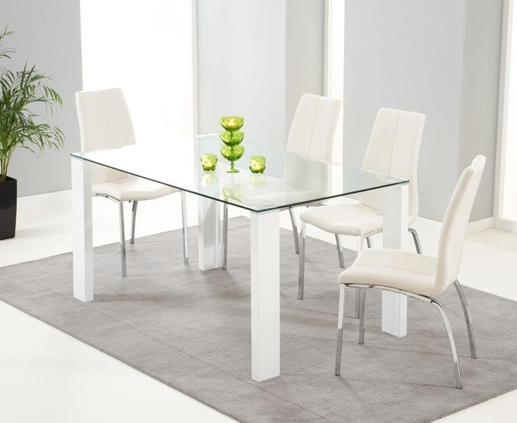 Glass And White Dining Table – Table Designs In Recent Glass Dining Tables White Chairs (Image 12 of 20)