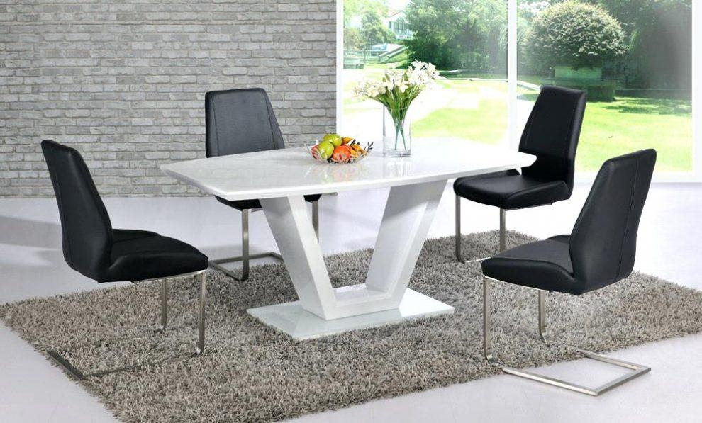 Glass And White Gloss Dining Table – Mitventures (Image 8 of 20)