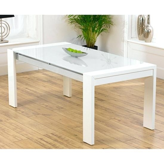 Glass And White Gloss Dining Table White Gloss Dining Table Glass With Regard To Most Current Glass And White Gloss Dining Tables (Image 11 of 20)