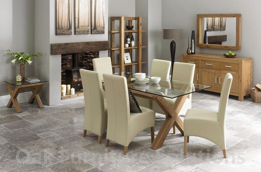 Glass Dining Room Chairs Unthinkable Tables Ideal Industrial Table For Newest Oak And Glass Dining Tables Sets (Photo 1 of 20)
