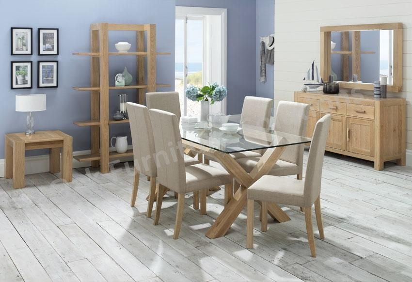 Glass Dining Room Furniture Endearing Decor Oak Dining Room Table Intended For Best And Newest Oak And Glass Dining Tables And Chairs (View 5 of 20)