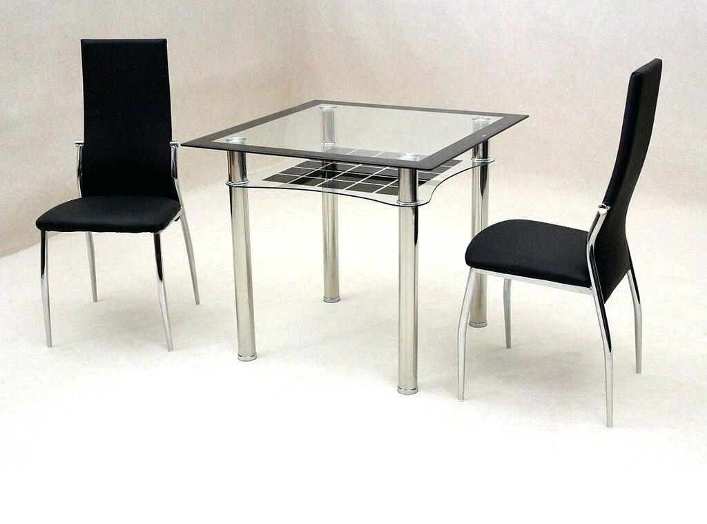 Glass Dining Table And 4 Chairs White Cheap Black Glass Dining Inside Most Popular Black Glass Dining Tables And 4 Chairs (View 20 of 20)