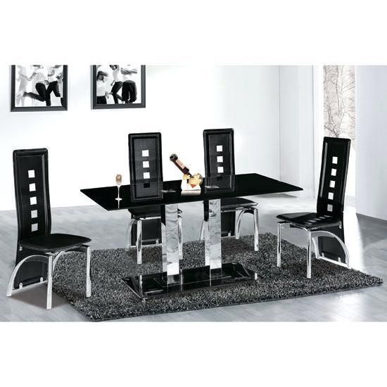 Glass Dining Table And 6 Chairs Sale – Zagons (Image 10 of 20)