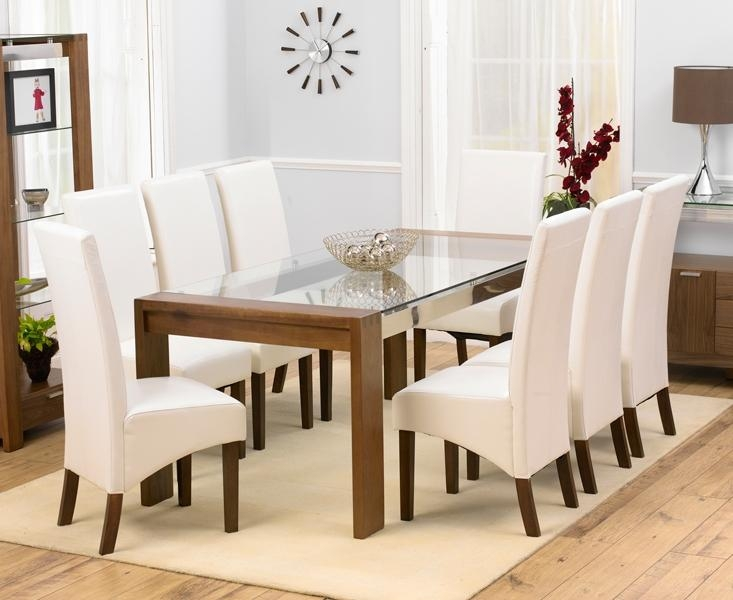 Glass Dining Table And 8 Chairs » Gallery Dining In Recent Dining Tables 8 Chairs Set (View 18 of 20)