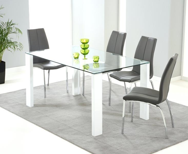 Glass Dining Table And Chairs Argos – Table Designs Inside Current White Glass Dining Tables And Chairs (Image 13 of 20)