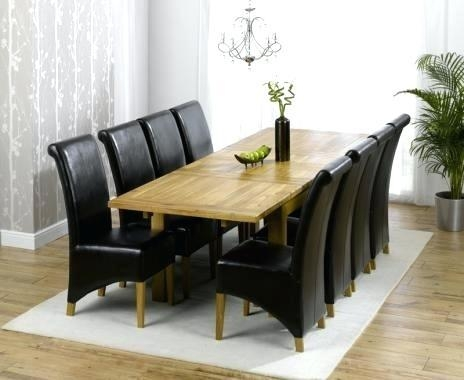 Glass Dining Table Seats 8 – Wallmounted (View 14 of 20)