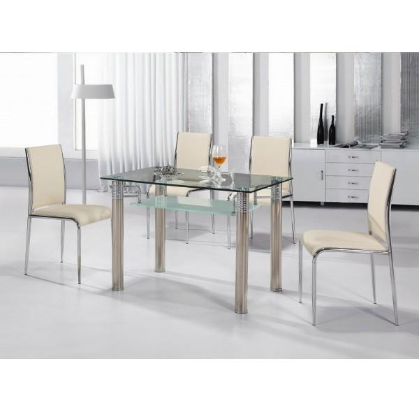Glass Dining Table Set 4 Chairs » Gallery Dining Inside Most Popular Clear Glass Dining Tables And Chairs (Photo 4 of 20)