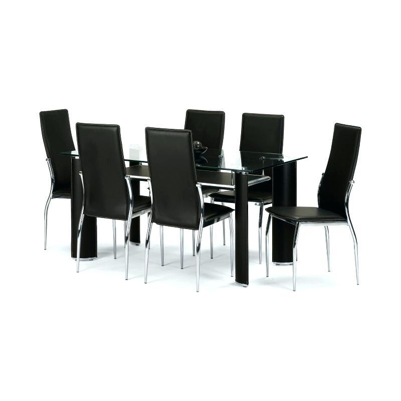 Glass Dining Table Set 6 Chairs – Mitventures (Image 16 of 20)