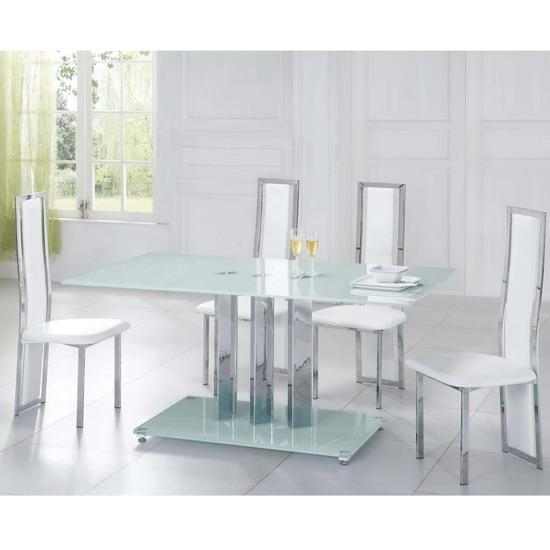 Glass Dining Table White Chairs » Gallery Dining Regarding Newest Glass Dining Tables White Chairs (Image 13 of 20)