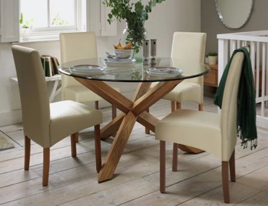 Glass Dining Tables – Our Pick Of The Best | Ideal Home Inside Current Glass And Oak Dining Tables And Chairs (View 16 of 20)