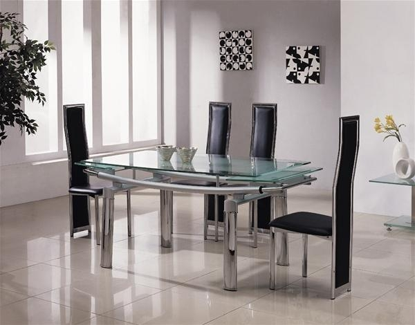 Glass Extendable Dining Table And 6 Chairs #7711 Intended For Recent Glass Extendable Dining Tables And 6 Chairs (Image 14 of 20)