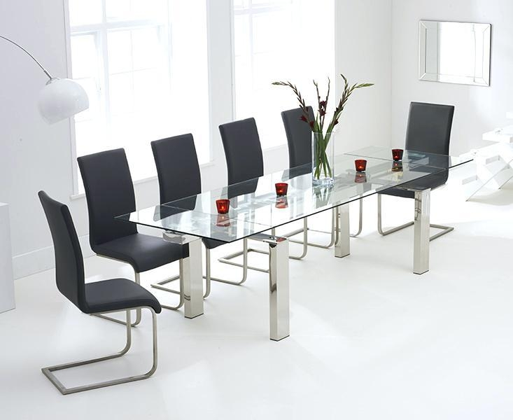 Glass Extending Dining Table – Mitventures (Image 16 of 20)