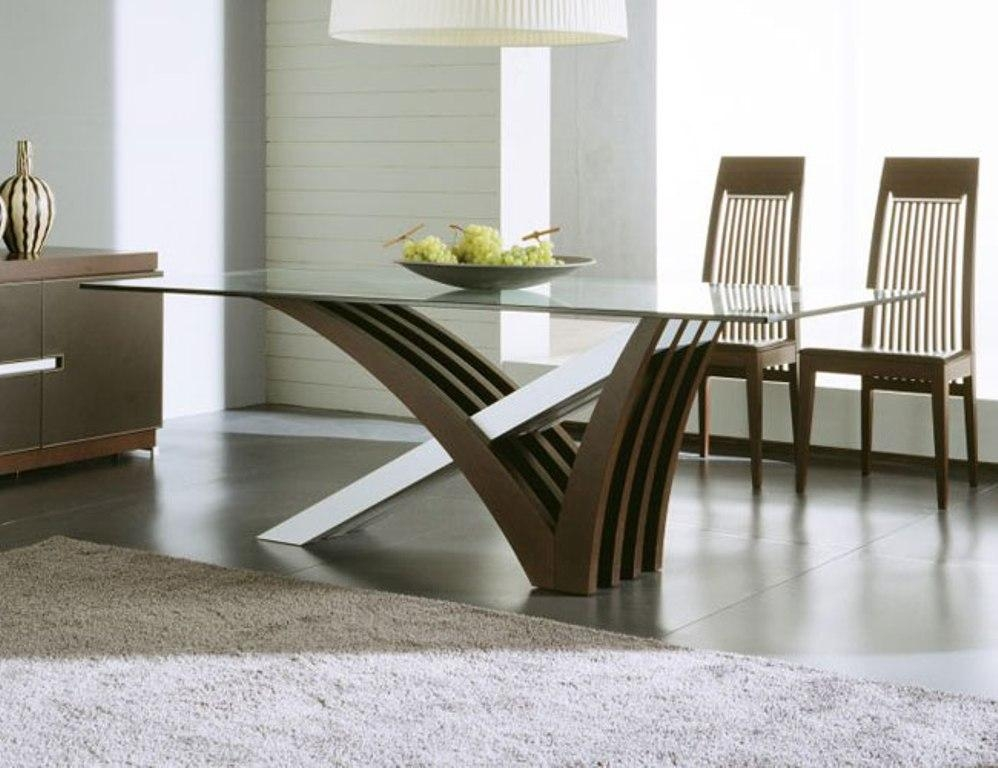 Glass Modern Dining Table Sets : Modern Dining Table Sets For The Regarding Most Current Dining Room Glass Tables Sets (Image 12 of 20)