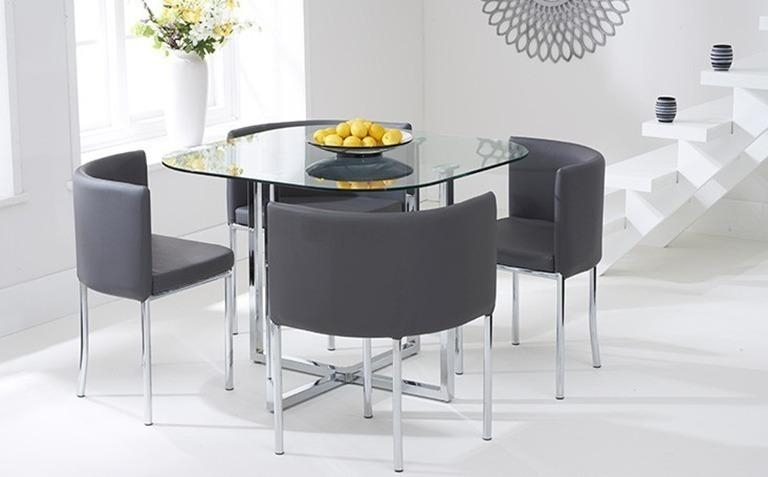 Glass Table And Chairs – Coredesign Interiors For Glass Dining Tables Sets (Image 16 of 20)