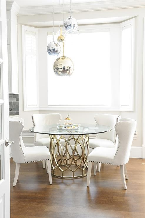 Glass Top Dining Table Design Ideas Intended For Most Popular Glass Dining Tables White Chairs (Image 14 of 20)
