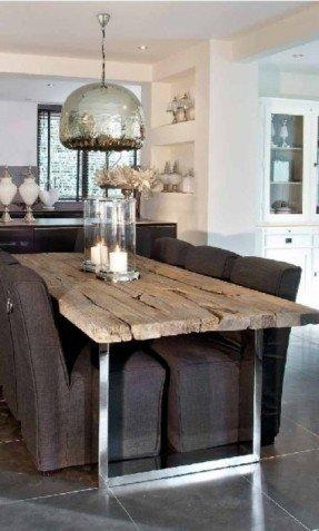 Glass Top Dining Tables With Wood Base – Foter In 2017 Chrome Dining Room Sets (View 18 of 20)