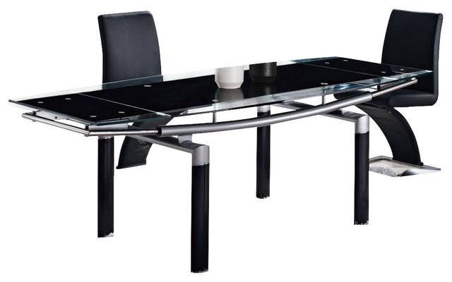 Global Furniture Usa 88Dt Rectangular Black Glass Dining Table Intended For Current Dining Tables Black Glass (Image 17 of 20)