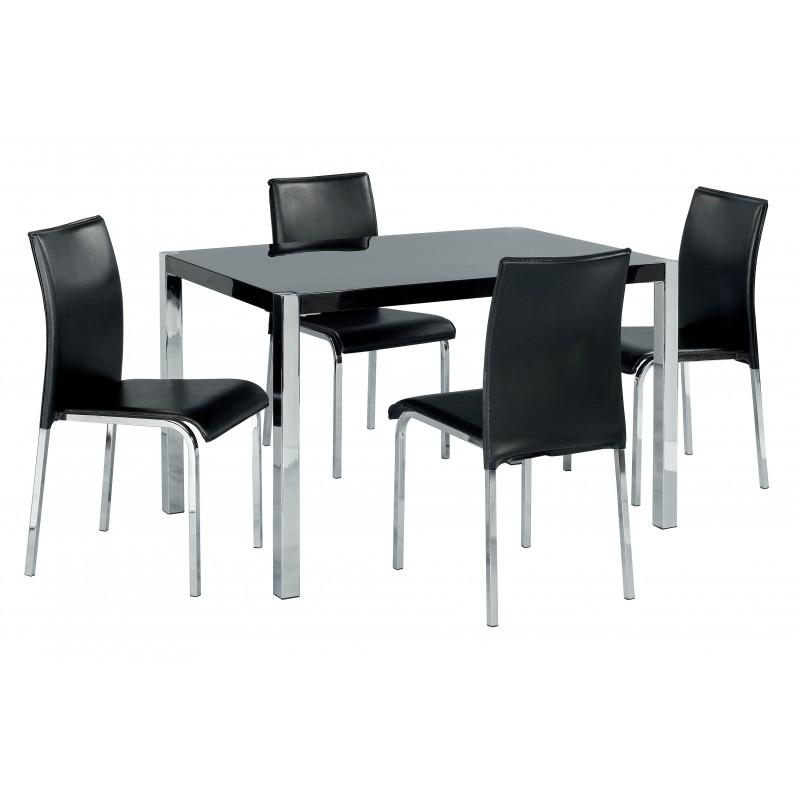 Gloss Dining Set Intended For 2017 Black Gloss Dining Tables (Image 16 of 20)