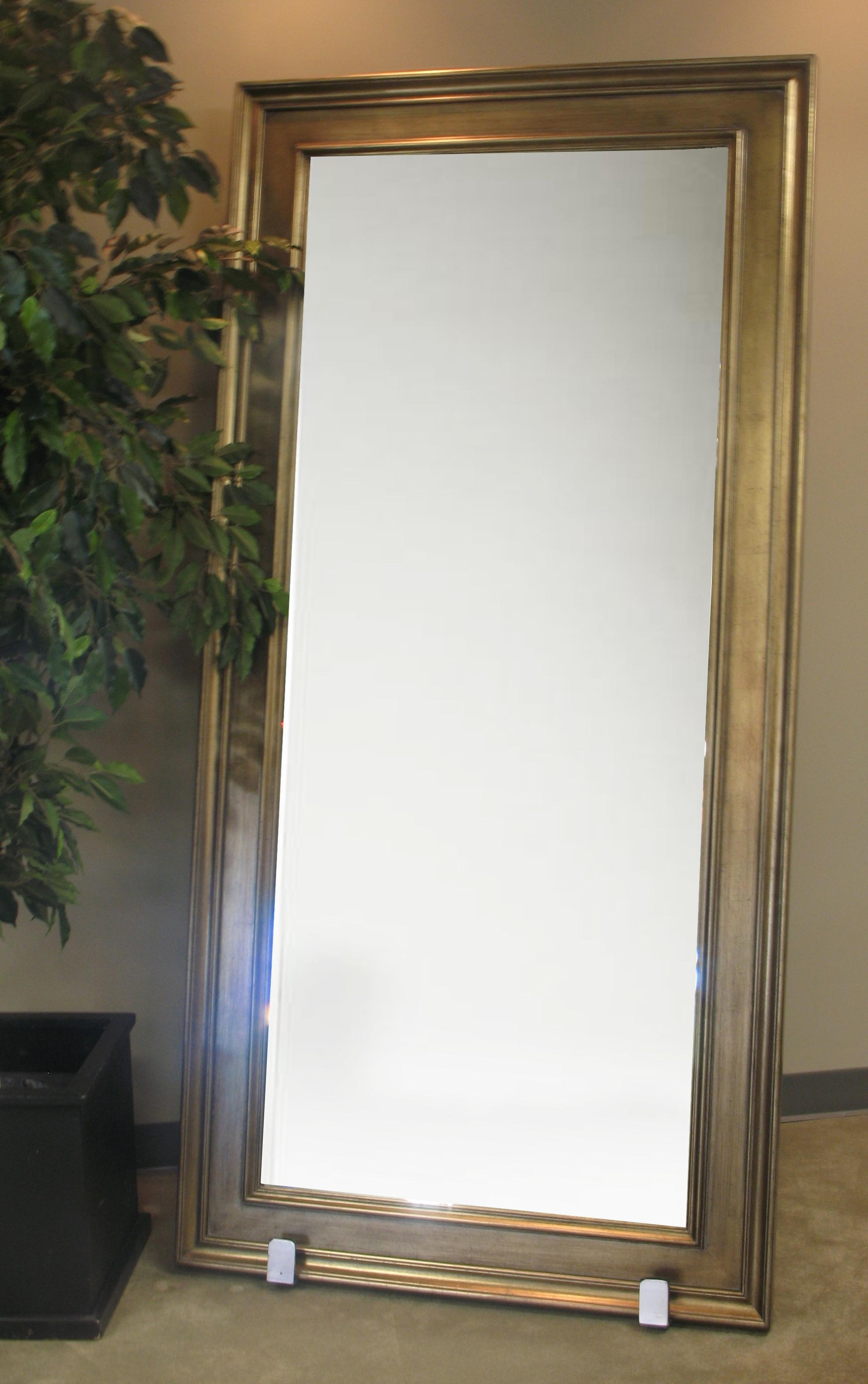 Gold Frame Floor Mirror | Town & Country Event Rentals Throughout Framed Floor Mirrors (Image 13 of 20)