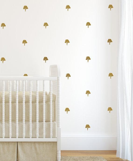 Gold Wall Decals Sticker Wall Art Decals Tree Decals Wall Art Regarding Gold Wall Art Stickers (Image 14 of 20)